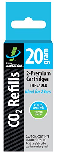 Genuine Innovations G2131 Threaded CO2 Cartridge, 20 Gram (Pack of 2)