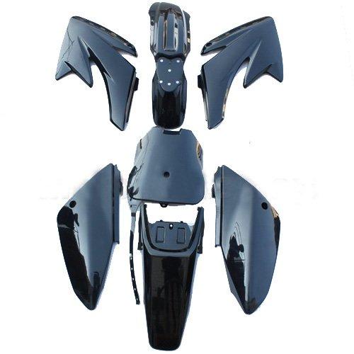 Black Plastic Body Fairing Fender Kit Bodywork Set for HONDA CRF 70 CRF70 Pit Bikes Dirt Bikes (Body Plastic Fairing)