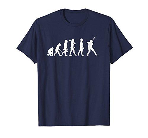 - Mens Funny Baseball TShirt - Evolution Of A Batter XL Navy