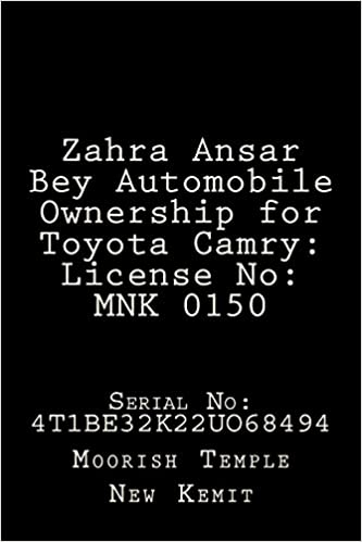 Buy Zahra Ansar Bey Automobile Ownership for Toyota Camry