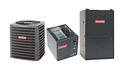 Goodman 100 000 BTU 96% Gas Furnace and 4 ton 16 SEER Air Conditioner GMVC961005CNGSX160481/TX5N4