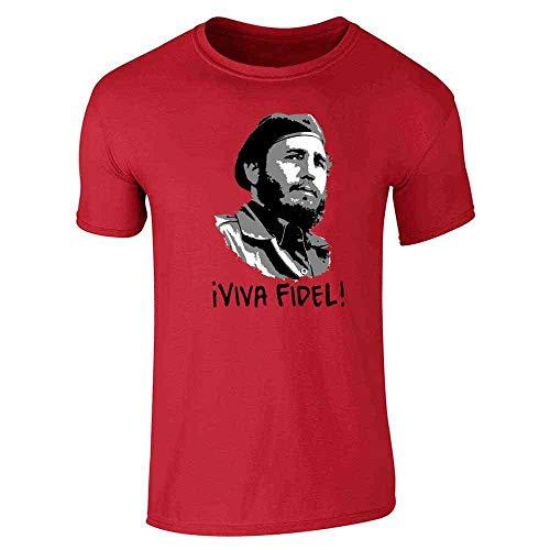 Viva Fidel! Castro Graffiti Red L Short Sleeve -