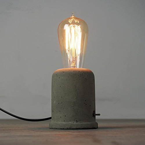 Vintage Cement Concrete Table Lamp