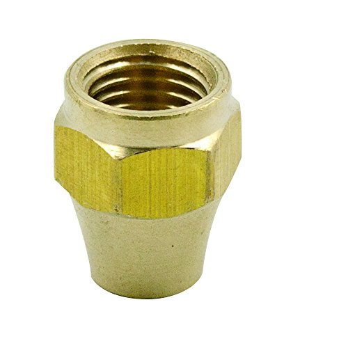 (Legines Brass Tube Fitting, SAE 45 Degree Flare, Short Flare Nut, 5/16