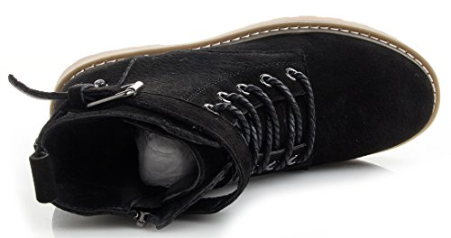 High Beauty Sneakers Top Snake D2C Suede Womens Wedge Velcro Lace Skinned 5 Black Up Synthetic HXqXwFd