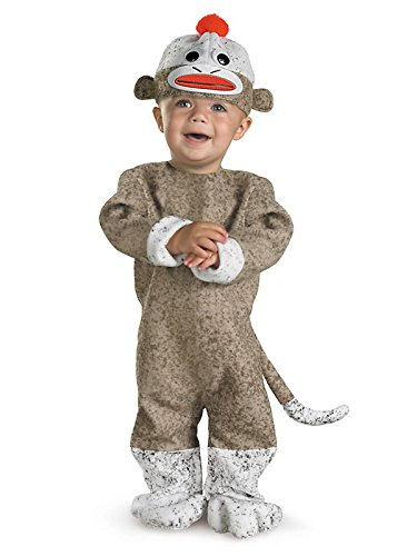 Disguise Sock Monkey Toddler Costume-(12-18 Months) -