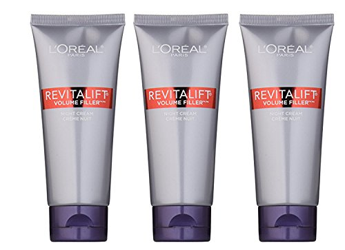LOréal Paris Revitalift Volume Filler Night Cream, 2 Fluid Ounce (Pack of 3)