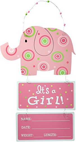 Elephant Wooden Wall Hanging Pink