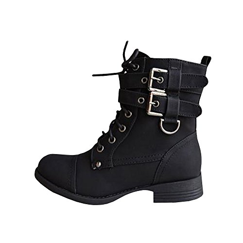 Women's Outdoor Work Boot Ankle High Starp Lace Up Hiking Shoes Steel Toe by Nailyhome