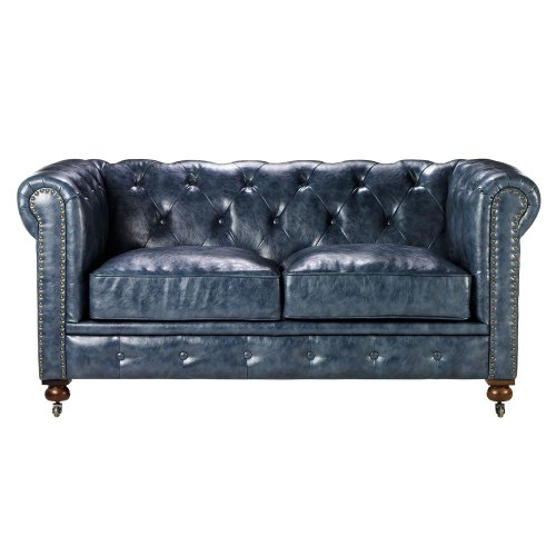 Remarkable Home Decorators Collection Gordon Tufted Loveseat 32 Hx66 Wx38 25 D Blue Short Links Chair Design For Home Short Linksinfo