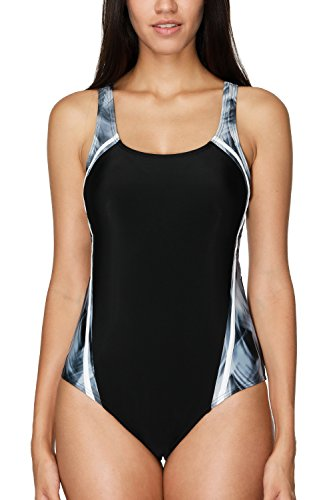 CharmLeaks Racerback One Piece Swimsuit Womens Sports Swimming Costume Racer Back - Costumes Swimwear