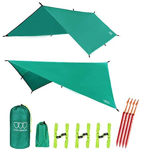 (Gold Armour Hammock Tent Fly Tarp Waterproof (Green))