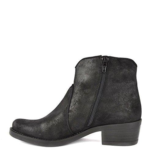 Noir Chaussures en Daim Couleur Femme Bottines Noir KANNA pour Kelly EqTnUWPxP