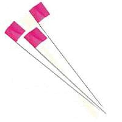 IRWIN Tools Stake Flags, 2 5-inch by 3 5-inch by 21-inch, Glo Pink,  100-pack (64101)