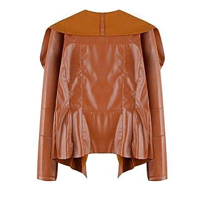 Naliha Chaqueta Casual De Cuero De Imitación Abierta Frontal PU Chaquetas Abrigo: Ropa y accesorios