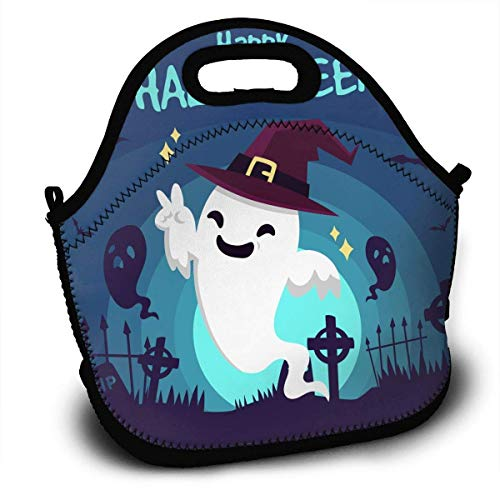 Halloween Portable Lunch Tote Bags, Takeaway Lunch Box, Outdoor Travel Fashionable Handbag for Men Women Kids Girls for $<!--$14.99-->