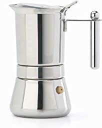 Vev Vigano 8310 Vespress Inox 12-cup Coffee Pot - Made in Italy