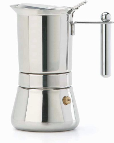 Vespress Stainless Steel Espresso Maker 4 Cup Size by Vev Vigano