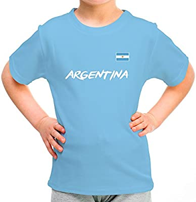 LolaPix Camiseta Argentina Personalizada con tu Nombre y Dorsal ...