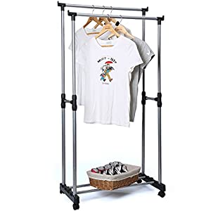 aojia hanging clothes rack clothes drying rack hanging clothes rack hanging rack heavy duty rack garment rack heavy duty clothing rack adjustable garment