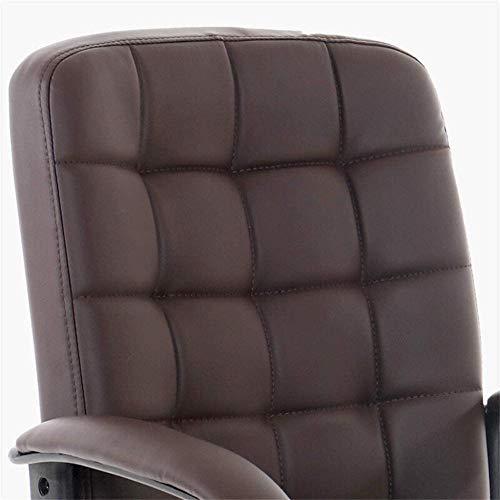 Kontorsstol i fuskläder svängbara skrivbordsstolar, justerbar höjd rotation, ergonomisk Pu mellanrygg datorstol knästol