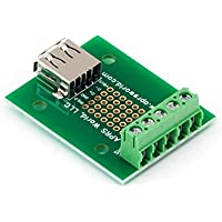 USB A Jack Breakout Board to Screw Terminals