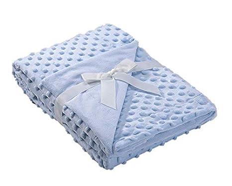 Mora auto mini-culla e carrozzina blu 80 x 110 cm coperta per bambini extra morbida