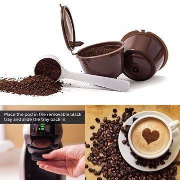 1 Pcs Reusable Refillable Single Mesh Cup Coffee Replacement Filter Maker Pod