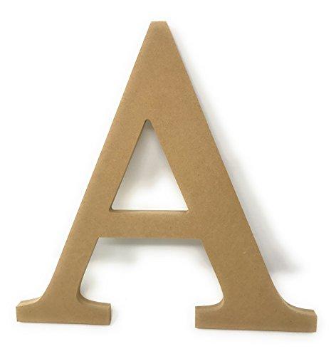 "12"" Wooden Greek Letter Alpha Unfinished Greek Wooden Letters for Greek Fraternity / Sorority Paintable 12"