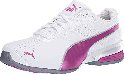PUMA Women's tazon 6 wn's fm Cross-Trainer Shoe White/Fuchsia Purple Silver, 10 M US