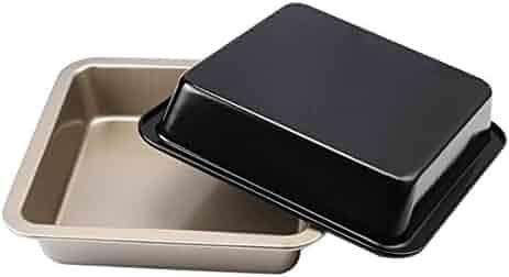 Popowbe Kitchen Carbon Steel Pizza Pan Non-Stick Cake Pans Pie Bread Baking Mold Bakeware Tools Kitchen Accessories Gold