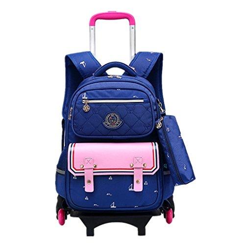 - Kids Rolling Backpacks Trolley School Bag Wheeled Waterproof Removable luggage