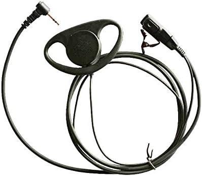 Haito D auricular de la forma auricular PTT para Motorola Talkabout COBRA radio bidireccional Walkie Talkie 1pin
