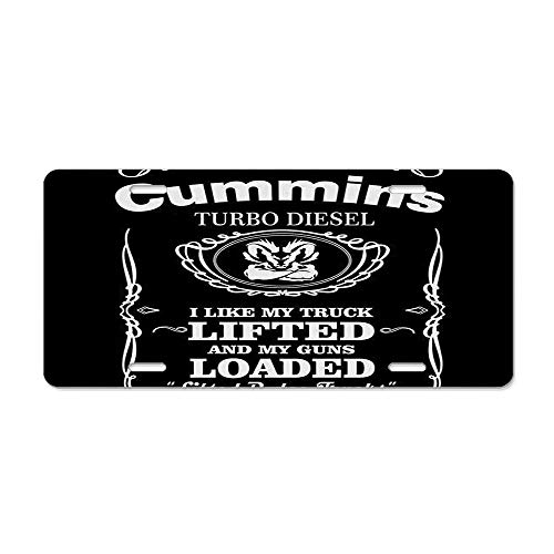 - Wonderhorsegala Cummins Diesel License Plate Cover Beautifully Designed, Specially Made, Car Wash Safe