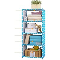 G-KAMP JAPAN ABS Plastic Matte Simple Multipurpose Rack, Storage Organizer / Bookshelf (5 Layer, Blue)