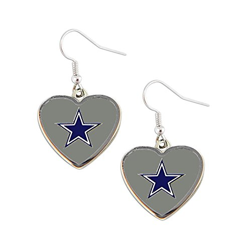 Sports Team Dallas Cowboys Non-Swirl Heart Shape Dangle Earring Set