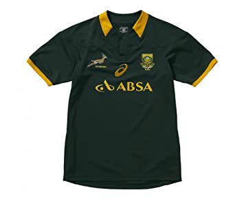 ff24dd76745 ASICS Springboks Home 2014 Supporters Junior Rugby Jersey, Bottle Green,  Age 15-16: Amazon.co.uk: Clothing