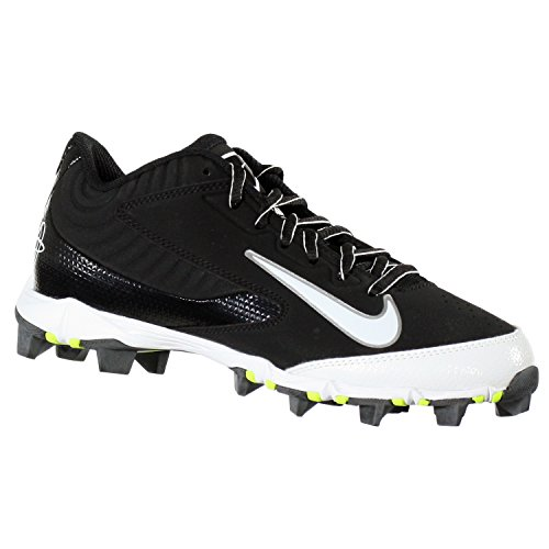 NIKE HUARACHE KEYSTONE LOW GS BLACK/WHITE YOUTH MOLDED BASEBALL CLEATS 4.5Y - Image 4
