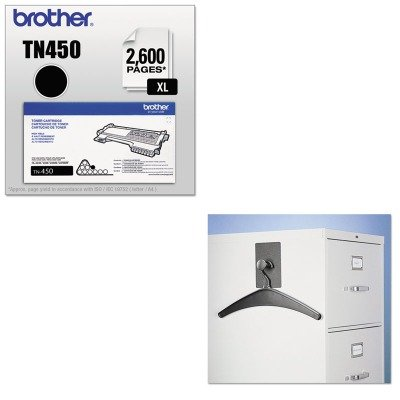 KITBRTTN450QRT2015M - Value Kit - Quartet Magnetic Coat Hook w/Heavy-Duty Hanger (QRT2015M) and Brother TN450 TN-450 High-Yield Toner (BRTTN450) by Quartet