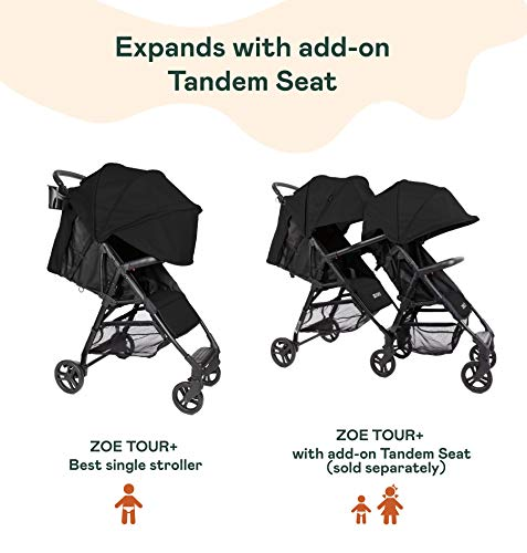 41tYy8tvahL - The Tour+ (Zoe XL1) - Best Everyday Single Stroller With Umbrella - Tandem Capable - UPF 50+ - Lightweight