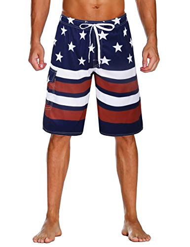 Board Shorts Flamingo Printed Hawaii Scenery Mens Beach Shorts Summer Elastic Waist Casual Shorts Men Swimwear Holiday Shorts Beach Fashionable And Attractive Packages