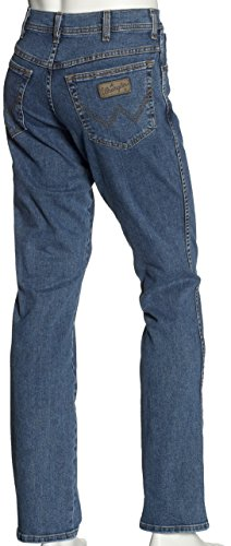 Blu stonewash Texas Stonewash Uomo Jeans Stretch Wrangler z6xqX8