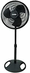 Lasko 2521 Oscillating Stand Fan, 16-Inch, Black