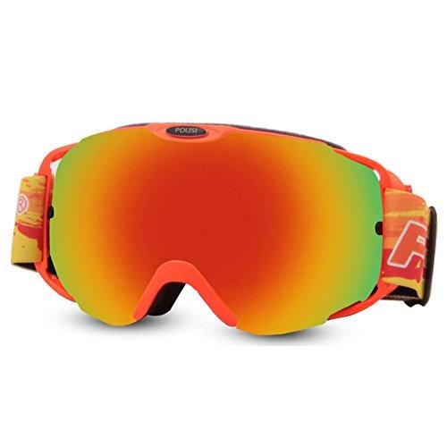 SE7VEN Snowboard Goggles,Lunettes Myopie Compatible Unisexe Lunettes De Neige Multicolore Ultra Wide-ange Lentille Sphérique Lentille Double Couche G