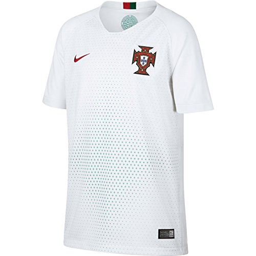 - NIKE Portugal 2018 Youth Away Jersey- White YM
