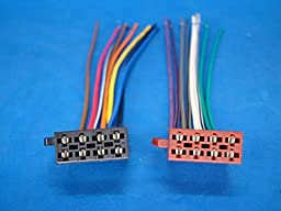RADIO POWER PLUG STEREO WIRE HARNESS MALE BACK CLIP SET 16-PIN 8 & 8 for SSL SOUNDSTORM VIR-3200. GETWIREDUSA US33SS