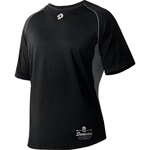 Game Day Baseball Jersey - DeMarini Men's Game Day Short Sleeve Shirt, Black, Small