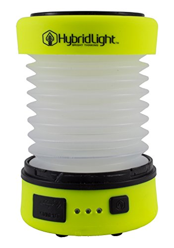 (Hybridlight Solar Rechargeable Lantern/Cell Phone Charger. 150 Lm. Built in Solar Panel, Hi-Vis Yellow)