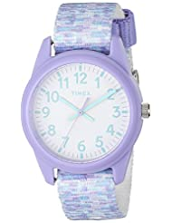 Timex Girls TW7C12200 Time Machines Analog Resin Purple/White...