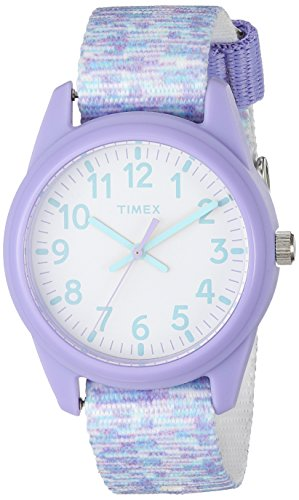 Timex Girls TW7C12200 Time Machines Purple/White Sport Elastic Fabric Strap Watch by Timex